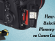 How to Unlock a Memory Card on Canon Camera