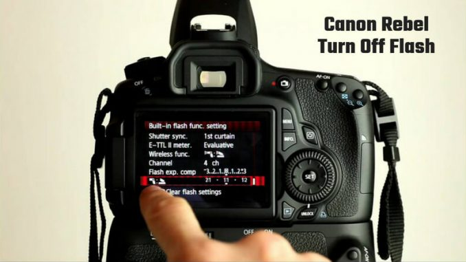 Canon Eos Turn Off Flash