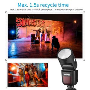Godox V1-5 Round Head Camera Flash Speedlite Flash for Sony DSLR Camera