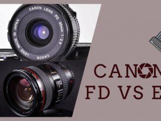 Canon FD vs EF
