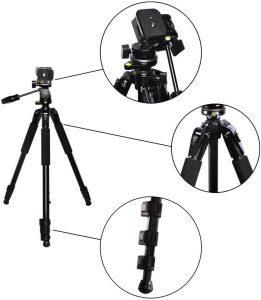 eCost – 80-inch Elite Series Professional Tripod Canon 5D Mark III